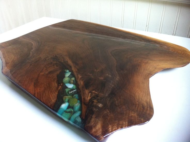 Live Edge Black Walnut Cutting Board Table Centerpiece