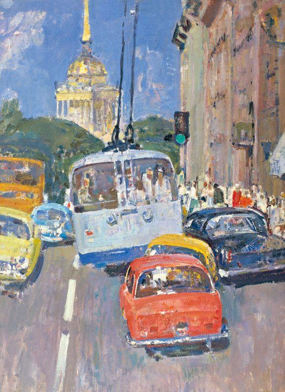 Ленинградские улицы в живописи 1940-1990-х - Ленинградская школа живописи