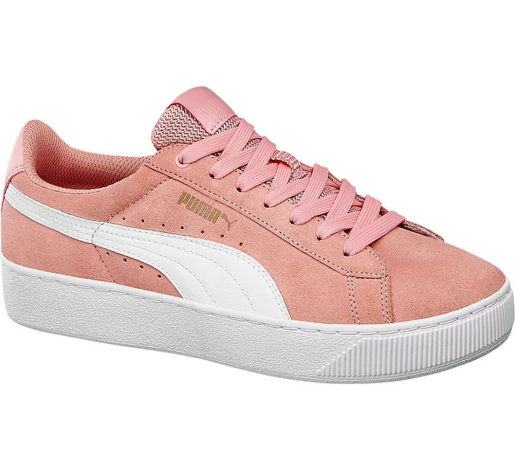 puma vikky platform coral cloud gold white