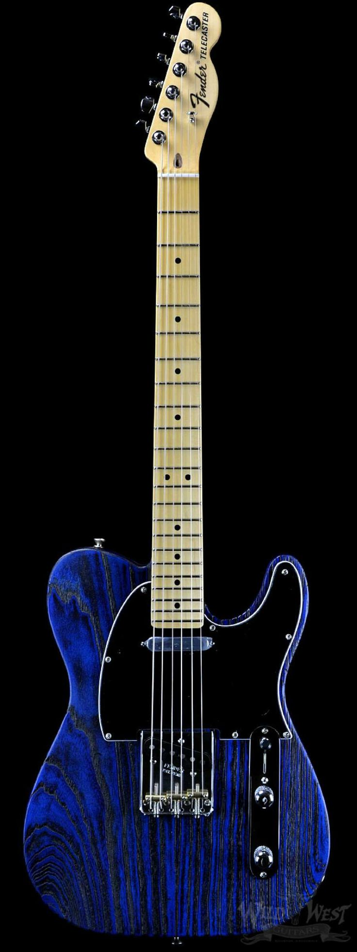 Fender USA Limited Edition Sandblasted Telecaster Sapphire Blue Transparent - Wild West Guitars