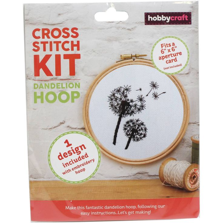 Dandelion Cross Stitch Hoop Kit | Hobbycraft