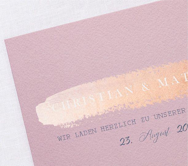 Hochzeitseinladungen Romantisch Kupferglanz