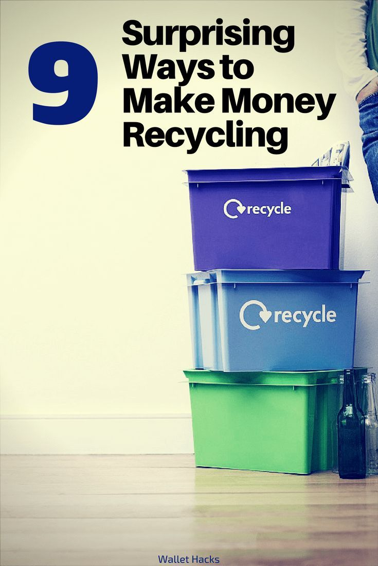 There are plenty of ways to turn the stuff you put into your blue recycling bin into cash. See how and I bet you'll be surprised! | recycling | how to make money recycling | surprising ways to make money | reduce reuse recycle | make money by recycling ||