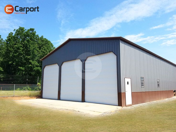 Deposit $5,436.00 down payment and get this 40' x 61' x 14' Two-Tone Workshop building with #FREE delivery and installation. Interested in our custom metal #workshop #structure? Talk to us at 866-811-0370 and get a free quote NOW!