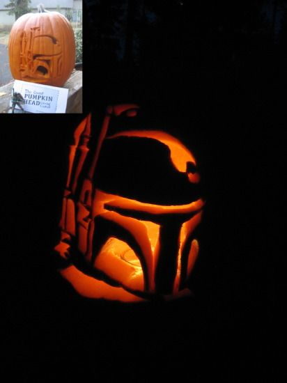 boba fett so doing this for halloween - Star Wars Halloween Pumpkin Carving Patterns