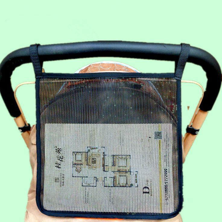 Universal Size Stroller Organizer Black Thick Stroller Net