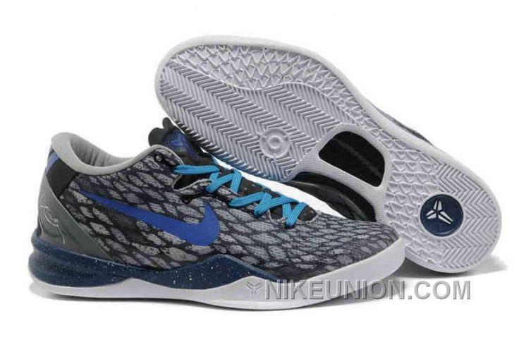 http://www.nikeunion.com/2013-nike-kobe-8-shoes-grey-blue-white-new-release.html 2013 NIKE KOBE 8 SHOES GREY BLUE WHITE NEW RELEASE Only $66.32 , Free Shipping!