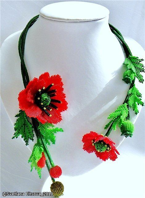 svetlana eltsova, beaded necklace