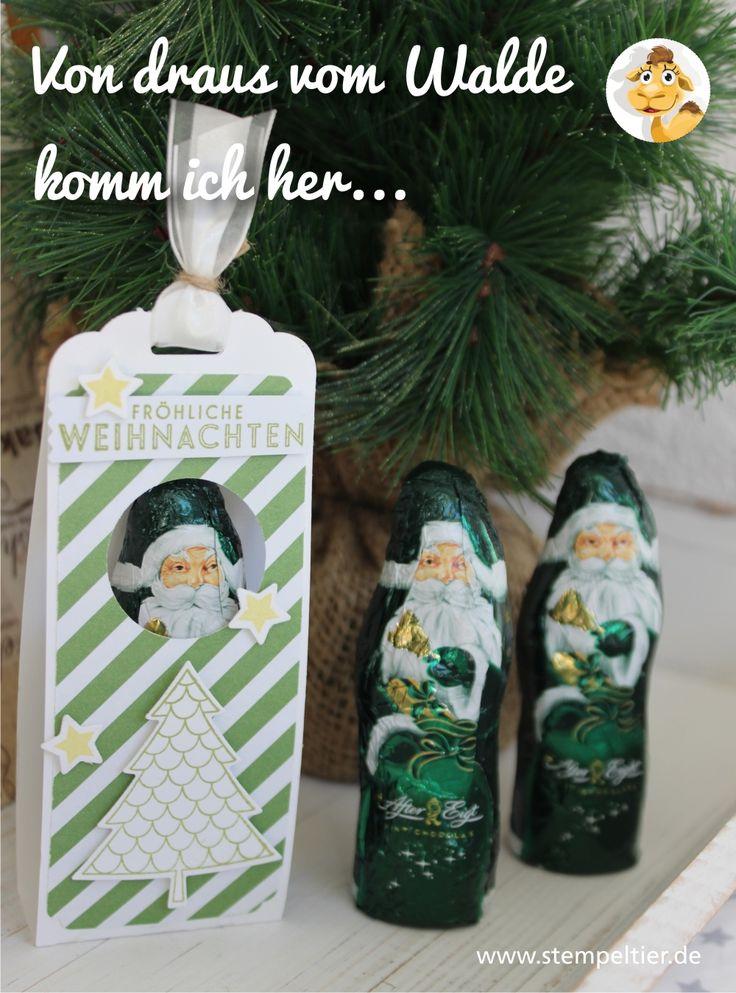 stampin up stempeltier nikolaus weihnachtsmann verpacken verpackung eleganter anhänger stanze weihnachten saint niklas