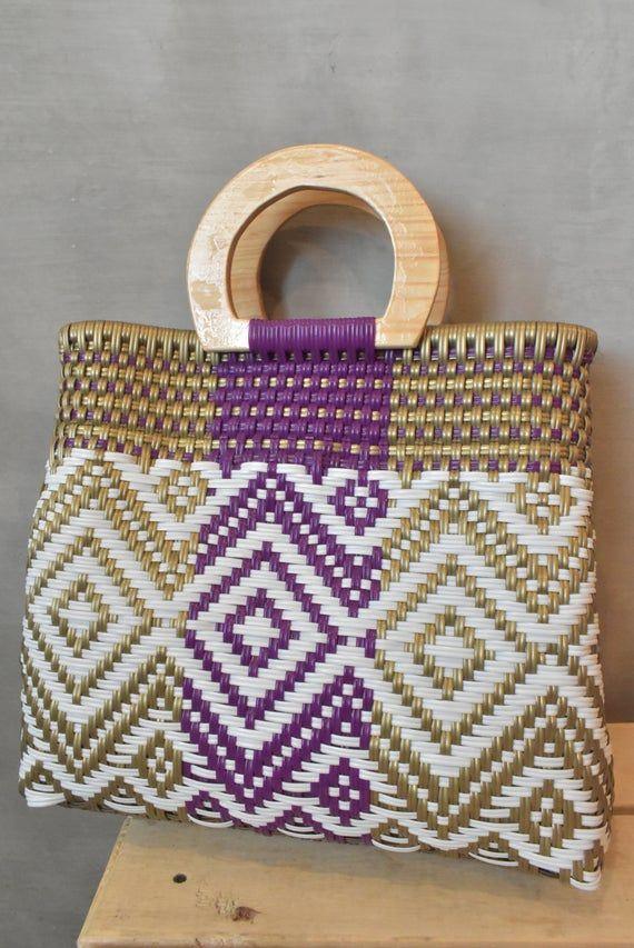 Wholesale TOO! Mexican Handycraft bag * Sending cost on description Medium bag woven handwoven with plastic