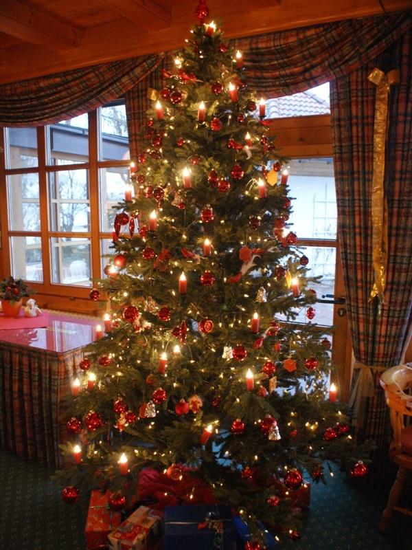 geschm ckter weihnachtsbaum im see restaurant weihnachten am chiemsee und im yachthotel. Black Bedroom Furniture Sets. Home Design Ideas