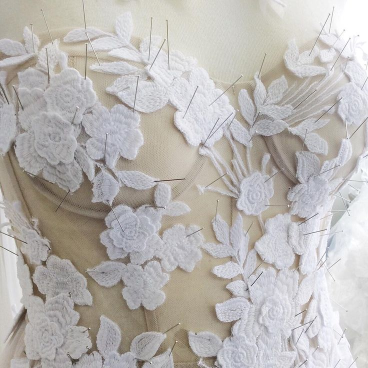 """Work in progress... Its all about the meticulous Hand work! #mirazwillinger #couture"""