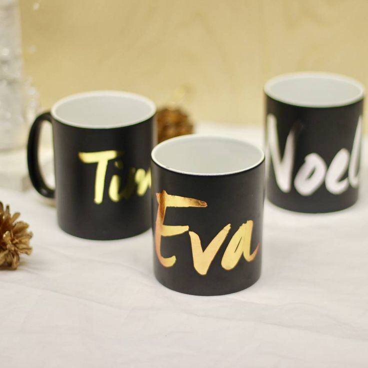Metallic Personalised Mugs #noths