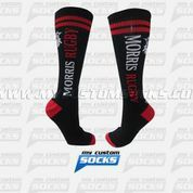 Socks designed by My Custom Socks for Morris Rugby in Bloomfield, CO. High knee socks made with Coolmax fabric. #Rugby custom socks - free quote! ////// Calcetas diseñadas por My Custom Socks para Morris Rugby en Bloomfield, CO. Calcetas de altura a la rodilla hechas con tela Coolmax. #Rugby calcetas personalizadas - cotización gratis! www.mycustomsocks.com