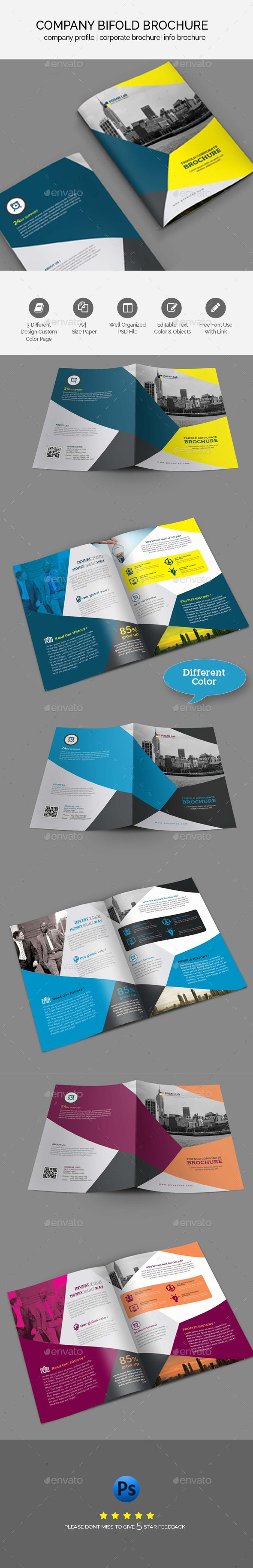 Corporate Bifold Business Brochure Template - #Corporate #Bifold #Business #Brochure #Print #Template #Design. Download here: https://graphicriver.net/item/bifold-business-brochure-template/19492617?ref=yinkira