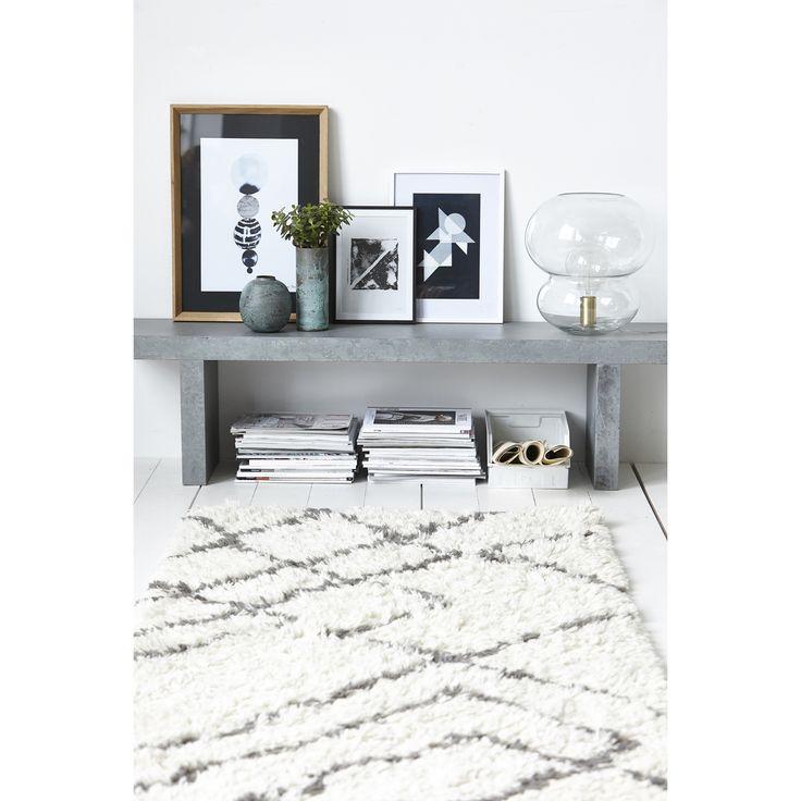 Ribas teppe, ivory/grå i gruppen Tepper / Tepper hos ROOM21.no (1023950)
