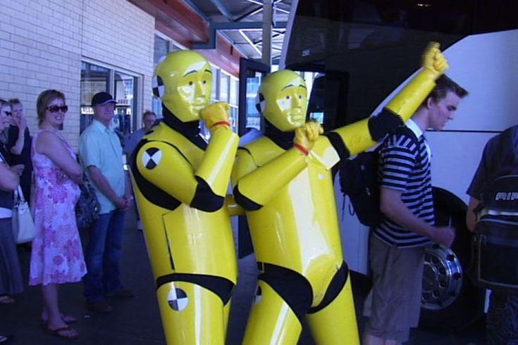 Live crash test dummies