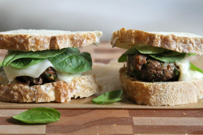 ... pizza quinoa bean burgers edible perspective # sidechefguru white bean