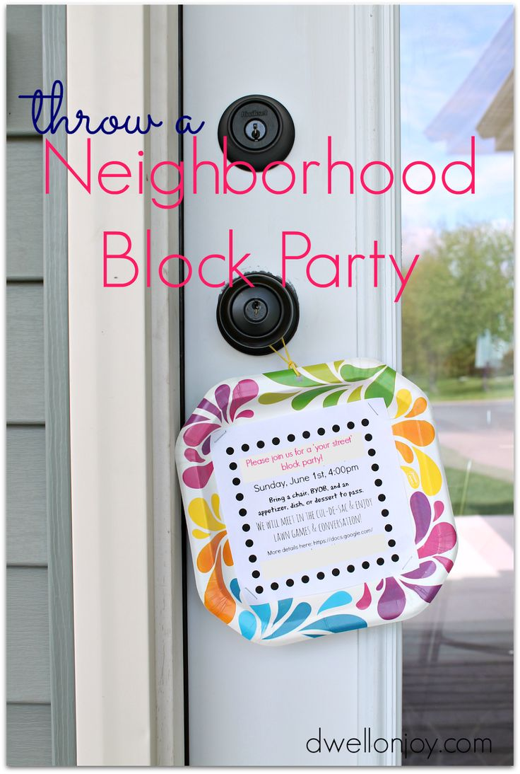 "Neighborhood Block Party Invitations | Dwell on Joy - this simple invite was very successful in getting our ""new"" neighbors outside to gather and have fun!"