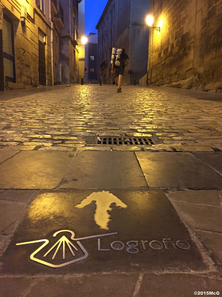 Leaving Logrono early in the morning #Camino 2015 july McG