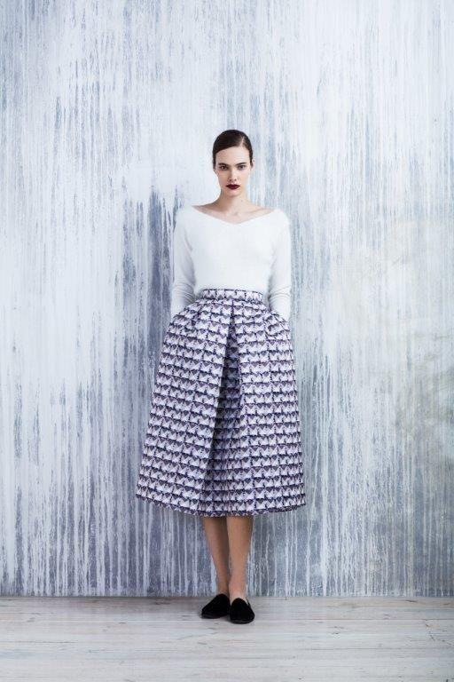 LUBLU Kira Plastinina FW14/15 neoprene, digital print party skirt.