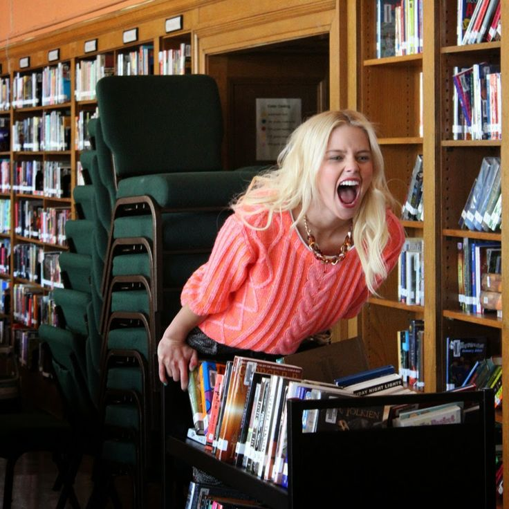 Our bookish model goofing around ;)