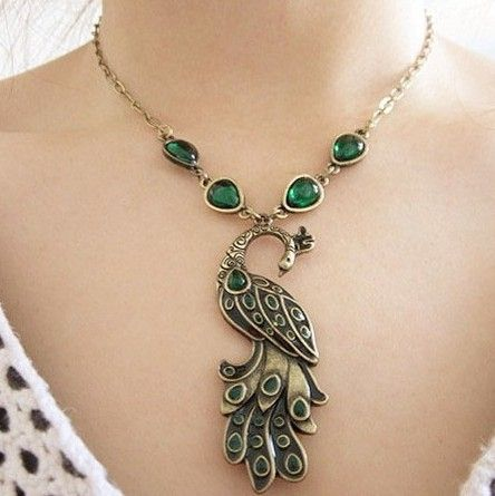 fashion Peacock green stone Pendant clavicle Necklace NL037 el collar-in Pendant Necklaces from Jewelry on Aliexpress.com   Alibaba Group