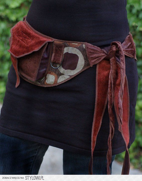 Bronze Circles Pocket Belt Utility Belt Festival to ... on Stylowi.pl