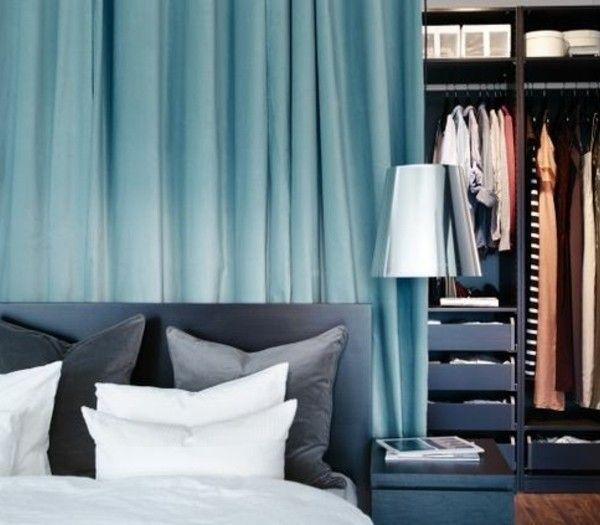 1000 id es sur le th me rideaux bleu clair sur pinterest rideaux de douche - Dressing avec rideau pas cher ...