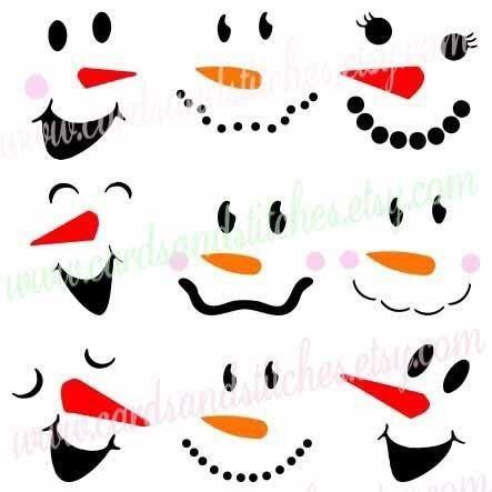 25 b sta snowman faces id erna p pinterest sn gubbe for Snowman faces for crafts