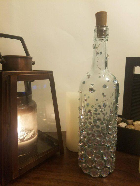 Decorative Wine Bottles Lighted Wine Bottles Wine Bottle Decor