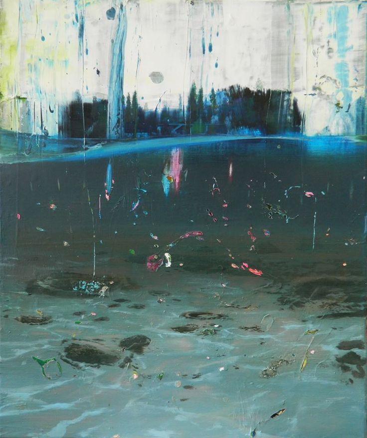 Giuseppe Gonella – De aeterno reditu Malerei/Paintings Bis 18. Oktober 2014 / Until 18 October 2014  Giuseppe Gonella – Pontikonisi: Under the Skin of the Sea, 2014 Acrylic on canvas / Acryl auf Leinwand 84 x 70 cm