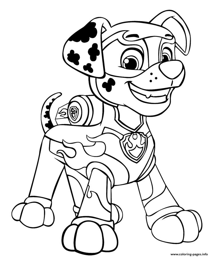 Print PAW Patrol Mighty Pups Marshal for Boys coloring ...