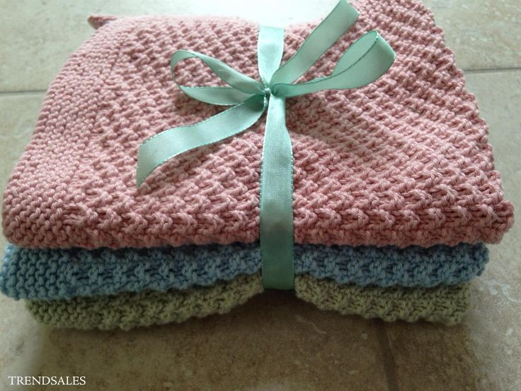 Strikkede håndklæder og karklude