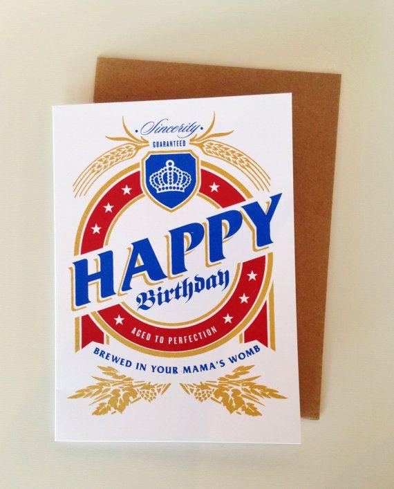 Happy Birthday Bier Etikett Geburtstag Karte (BER-01) im Alter bis zur Perfektion