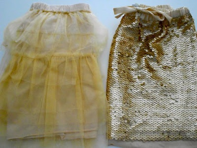 sequin & tulle skirts from Witchery for children, under $40 combined