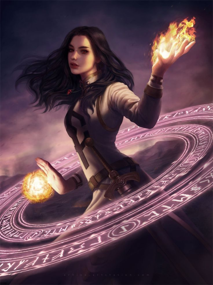 Female Human Sorcerer Using Arcane Power Spellcasing Flame Elemental Power Rpc Character Inspiration For Dnd P Warrior Woman Fantasy Girl Female Wizard