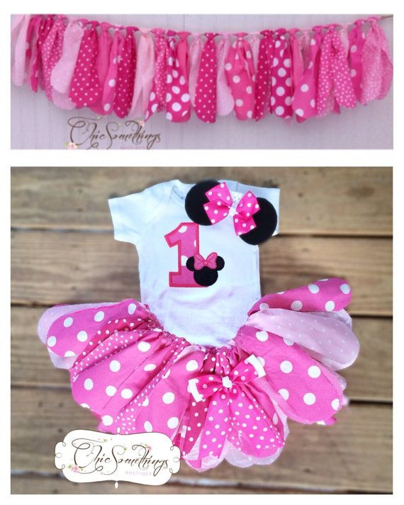 Minnie Mouse Tutu Baby Tutu and Minnie ears by ChicSomethings