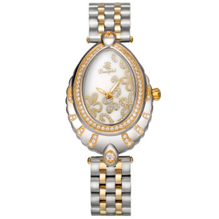 US $350.00 - Oval Butterfly Buckle Sapphire Glass Women's Watches Women's Quartz Table Lings White Plum Blossom Beautylok Branded Watches