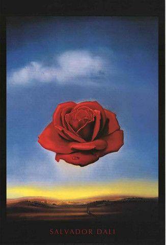 Salvador Dali Meditative Rose Poster 24x36