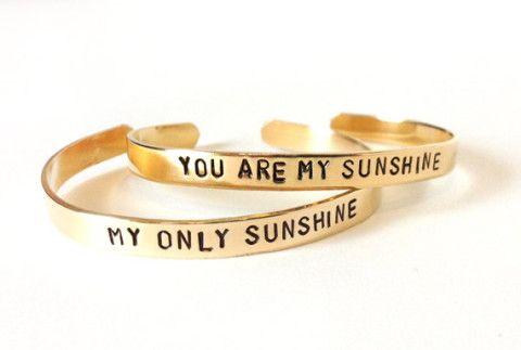 Cute best friend bracelets - you are my sunshine my only sunshine.