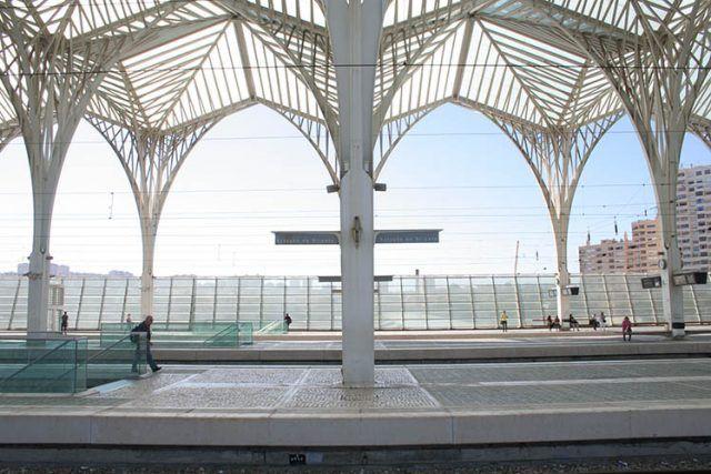 Portugal Lisbon Modern Station Santiago Calatrava