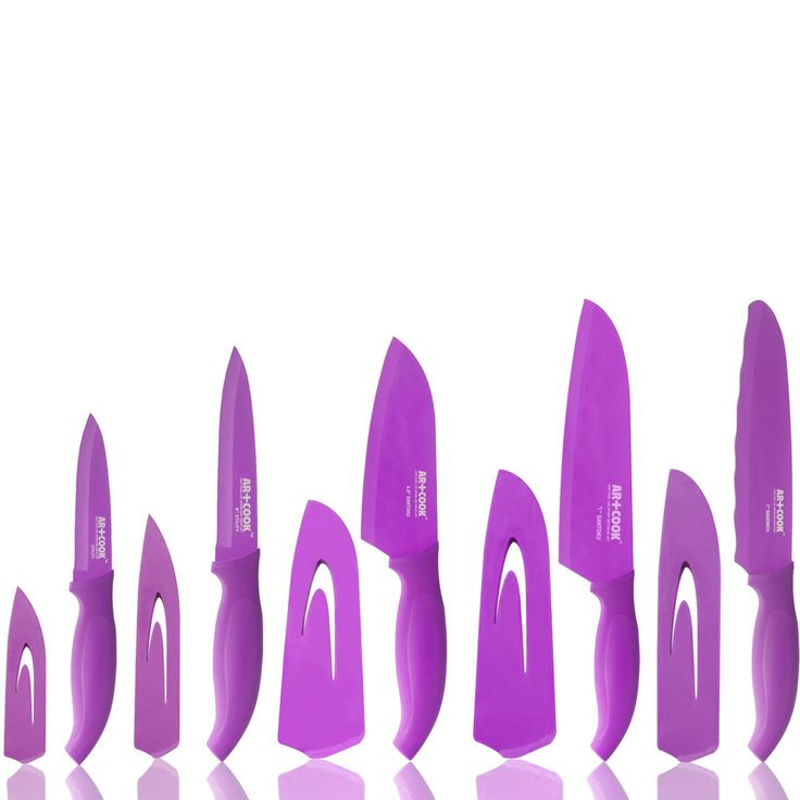 Knife Set   Yes Because They Are Purple