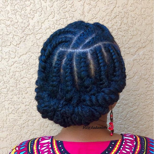 I just did this style! Flat twist :)