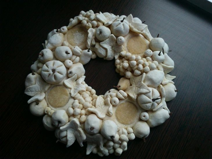 salt dough wreath - Google Search