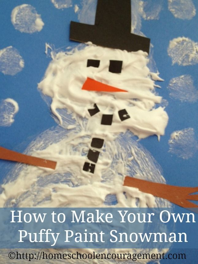 How to make a puffy painted snowman with shaving cream for How to create a snowman