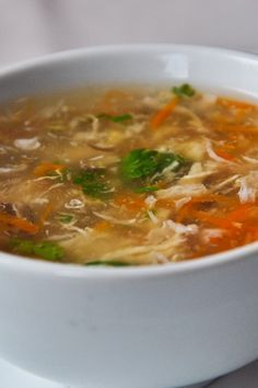 Asian Chicken Soup   KitchMe 3 cup chicken stock 1 oz ginger root 1 1⁄2 tbsp soy sauce 1 1⁄2 tsp brown sugar 1⁄8 tsp red pepper flakes 1⁄2 lime 6 oz boneless, skinless chicken breast 1 1⁄2 tbsp corn starch 1 oz shiitake mushrooms 1⁄2 cup snow peas 1⁄2 red bell pepper 2 sprig cilantro 2 oz thin rice noodles