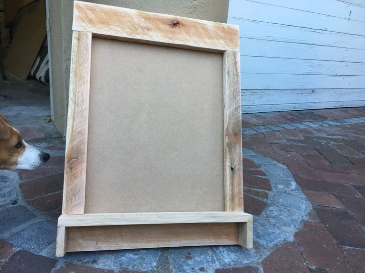 A chalkboard blank to be used in a chalk paint workshop