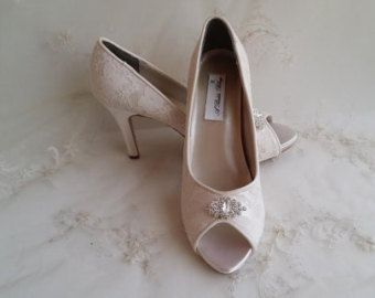 Ivory Lace Wedding Shoes Ivory Lace Bridal Shoes by ammiejoyce