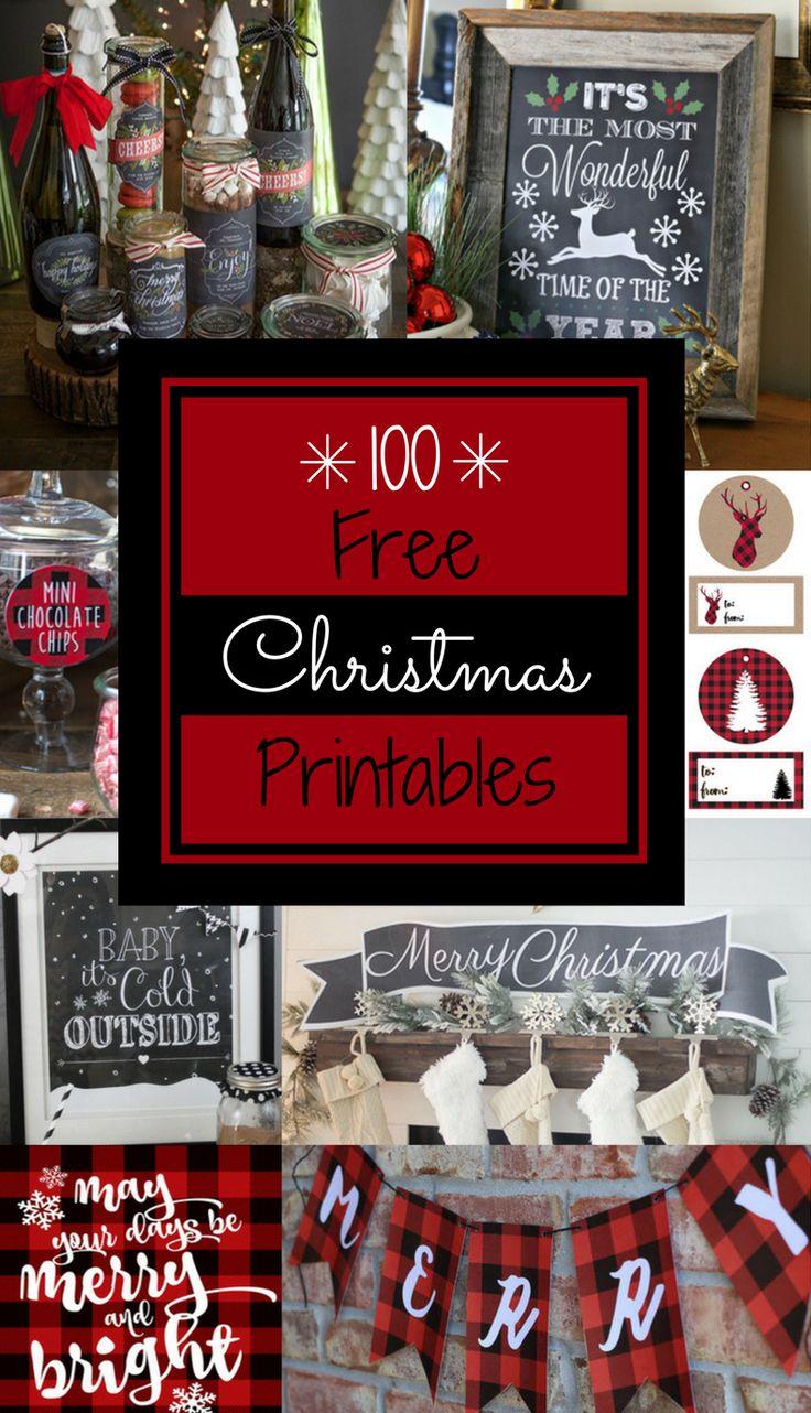 100 Free Christmas Printables